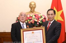 Friendship Order bestowed upon Special Advisor to Japanese PM