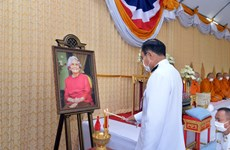 Thai PM makes merit to commemorate Princess Srinagarindra