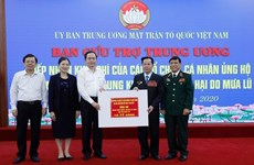 Over 11 million USD donated to central region via Vietnam Fatherland Front