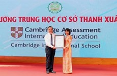 Hanoi's public school recognised as Cambridge school