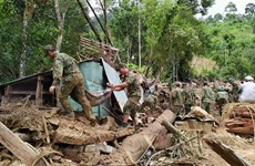 Race against time to find landslide victims in Quang Nam