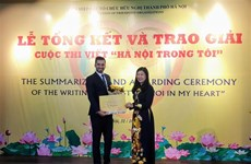 Winners of writing contest on Hanoi announced