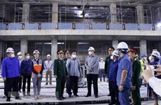 Lao Deputy PM inspects construction of Vietnamese-funded NA House