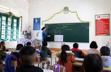 Young teacher devoted to supporting disadvantaged students