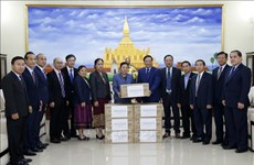 Vietnam presents face masks to Laos