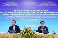 Workshop promotes investment, foreign trade in Quang Ninh