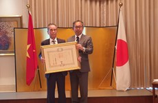 Vietnamese conferred Japan's Order of the Rising Sun