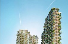 Foreign media laud Southeast Asia's tallest vertical forest in Vietnam