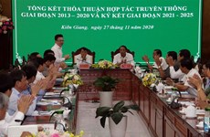Vietnam News Agency, Kien Giang intensify communications cooperation