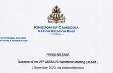 Cambodia reviews outcome of 23rd ASEAN-EU Ministerial Meeting