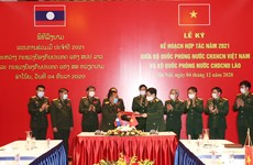 Vietnamese, Lao defence ministries ink cooperation plan for 2021