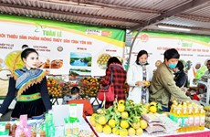 Yen Bai's agricultural and aquatic products introduced in Hanoi