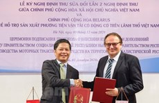 Vietnam, Belarus cooperate to support production of motor vehicles