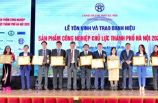 Hanoi honours key industrial products
