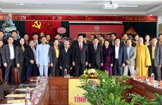 Front leader pays X-mas visits to Nghe An, Thai Binh provinces