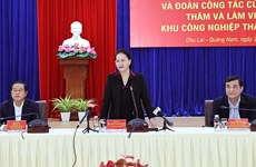 NA Chairwoman hails Quang Nam's efforts amid COVID-19, natural disasters