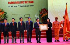 EVN honoured for contribution to national socio-economic development