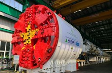 Hanoi: First tunnel boring machine for metro line construction installed