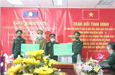 Vietnamese, Lao provinces enhance ties in border defence, COVID-19 fight