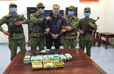 Ha Tinh: Cross-border drug transporter caught with 11 kg of drugs