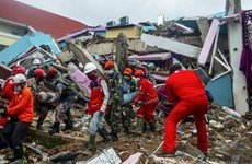 Indonesia: heavy rains hamper rescue of quake victims
