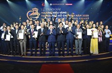 Thirty businesses win HCM City Golden Brand Award