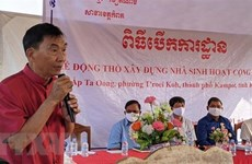 Work begins on communal house for Vietnamese-Cambodians in Kampot