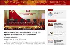 Indian researcher highlights Vietnam's achievement under Party leadership