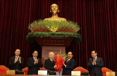 Nguyen Phu Trong re-elected as Party General Secretary