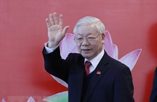 Workers' Party of Korea chief congratulates Party General Secretary Nguyen Phu Trong
