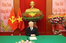Vietnamese, Lao Party chiefs hold phone talks