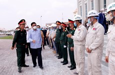 Lao leader pleased with quality, progress of Vietnamese-funded NA building