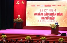 PM attends ceremony marking 70 years of Nhan Dan newspaper's first issue