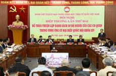 15th NA election: Presidium of VFF Central Committee holds second consultative conference