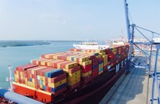 Cai Mep-Thi Vai port receives giant container vessel