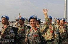 Ceremony held to bid farewell to staff of level-2 field hospital No.3 to South Sudan