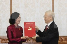 Party leader presents decisions appointing heads of Party Central Committee's commissions
