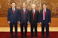 Newly-elected Vietnamese leaders receive more congratulations