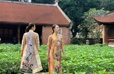 Veteran movie stars turn models in ao dai fashion show