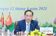 Teleconference informs outcomes of 13th CPV Congress to Chinese party