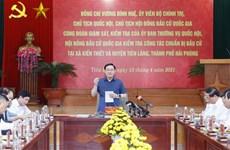 Top legislator inspects election preparations in Hai Phong