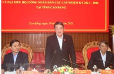 NA Vice Chairman inspects election preparations in Cao Bang