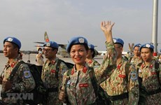 Staff of Level-2 Field Hospital No.2 return from South Sudan