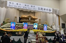 Funeral service for two Vietnamese victims in landslide in Japan