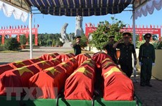 Memorial services held for fallen soldiers repatriated from Laos