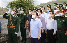 NA leader inspects preparations for elections in Ha Giang