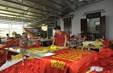 Trade village busy making flags ahead of general election