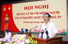 Top legislator meets voters in Hai Phong city