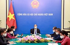 Vietnamese, French Presidents hold phone talks