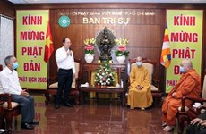 HCM City leaders extend greetings on Buddha's birthday